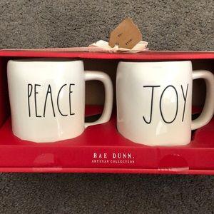 Rae Dunn peace and joy mug set